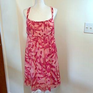 Super Fun Babydoll Pink Strappy Floral Dress Sz16